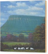 Yeats Country With Benbulben Wood Print