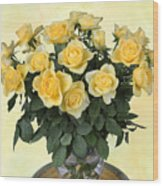 Yello Roses Wood Print
