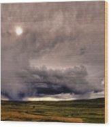 Yellostone Sky Wood Print