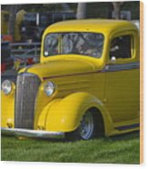 Yellow 30's Chevy Pickup Wood Print
