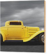 Yellow 32 Ford Deuce Coupe Wood Print