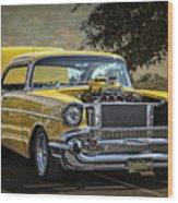 Yellow 57 Wood Print