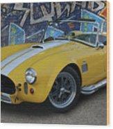 Yellow Ac Cobra  Wood Print