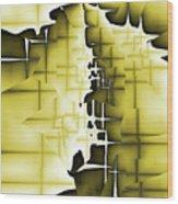 Yellow And Black 4 Wood Print