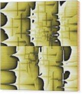 Yellow And Black 6 Wood Print