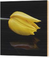 Yellow And Black Wood Print