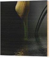 Yellow And Gray Wood Print