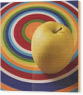 Yellow Apple  Wood Print