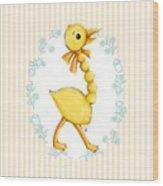 Yellow Baby Duck Wood Print