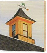 Yellow Barn Cupola Wood Print