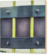 Yellow Bars Close Up  Wood Print