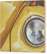 Yellow Beetle Wood Print