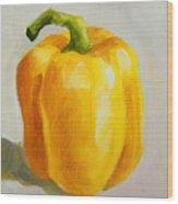 Yellow Bell Pepper Wood Print