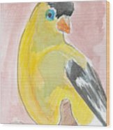 Yellow Bird 56 Wood Print