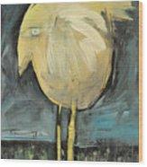 Yellow Bird In Field Wood Print