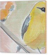 Yellow Bird Wood Print