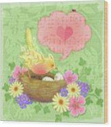 Yellow Bird's Love Song Wood Print