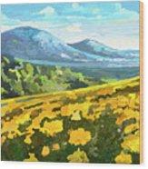 Yellow Blanket Wood Print