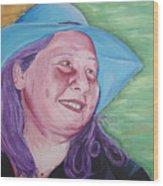 Yellow Blue Green Christine Wood Print