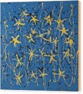 Yellow Blue Wood Print