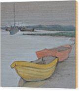 Yellow Boat 2 Wood Print