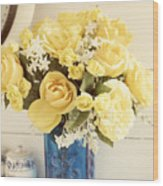 Yellow Bouquet Of Flowers Wood Print
