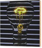 Yellow Bulb Wood Print