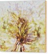 Yellow Burning Yucca Wood Print