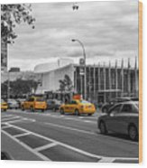 Yellow Cabs By The United Nations, New York 2 Wood Print