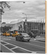 Yellow Cabs By The United Nations, New York 3 Wood Print