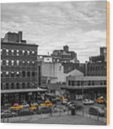 Yellow Cabs In Chelsea, New York 2 Wood Print