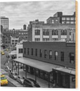 Yellow Cabs In Chelsea, New York 5 Wood Print