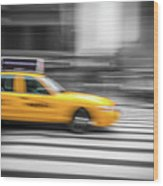 Yellow Cabs In New York 6 Wood Print