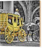 Yellow Carriage Wood Print