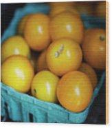 Yellow Cherry Tomatoes Wood Print