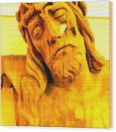 Yellow Christ #1 Wood Print