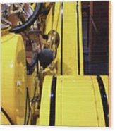 Yellow Classic Wood Print