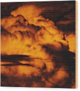 Clouds Time Wood Print