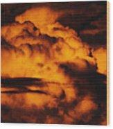 Clouds Time Wood Print
