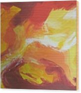 Yellow Clouds Sold Wood Print