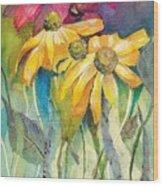 Yellow Coneflower Wood Print