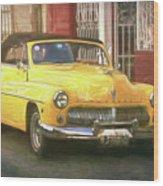 Yellow Convertible Mercury Wood Print