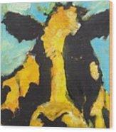 Yellow Cow Wood Print