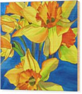 Yellow Daffodils Wood Print
