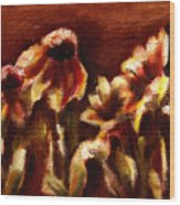Yellow Daisys Wood Print