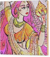 Yellow Devi Wood Print