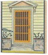 Yellow Door In Panama Wood Print