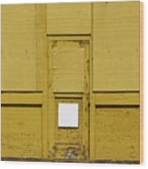 Yellow Door With Accent Wood Print