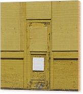 Yellow Door With Accent Wood Print
