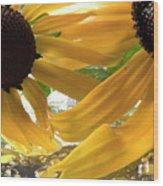 Yellow Droplet Petals Wood Print